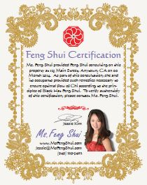 Ms. Feng Shui Certification