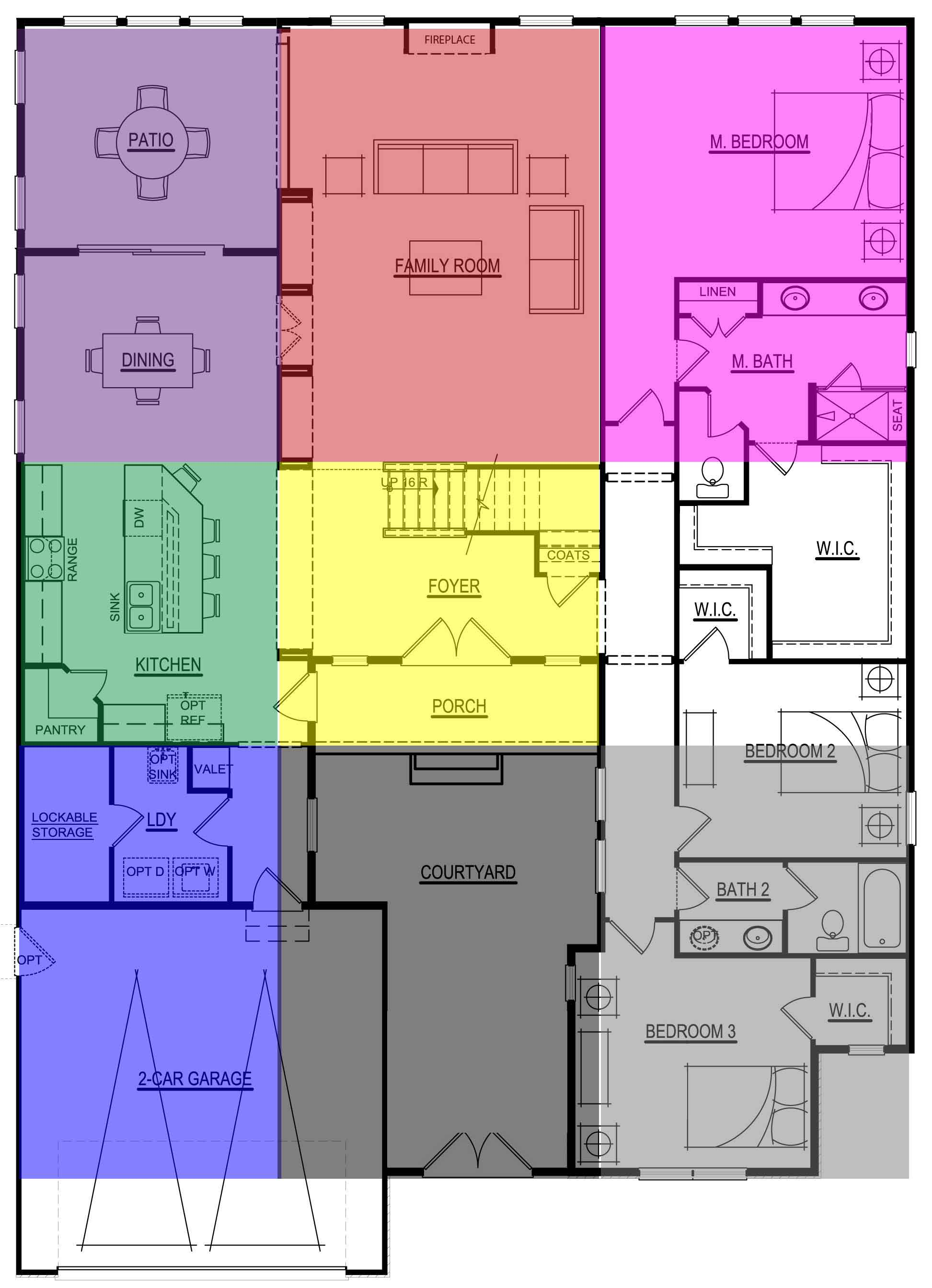 Feng shui compass or bagua ms feng shui Bad floor plans examples