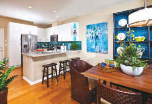 Placement and layout of the kitchen is an important element for buyers in new home design.