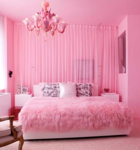 While it may be tempting to make your relationship corner completely pink, don't overwhelm one area without balancing the other spaces in your home's Bagua.