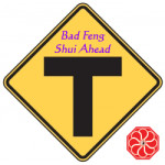 Bad Feng Shui may be ahead with a T-Junction. Fortunately, there are cures.