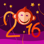 2016 New Year Red Monkey