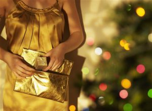 Feng Shui Christmas Gold Purse
