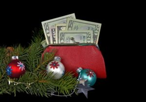 Feng Shui Christmas Wallet with Money
